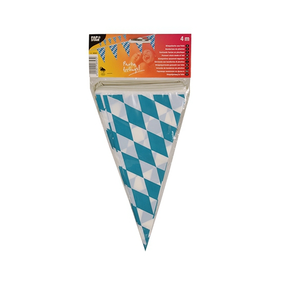 Feestartikelen diversen AlleKleurenShirts Vlaggetjes van Bayern 4 meters