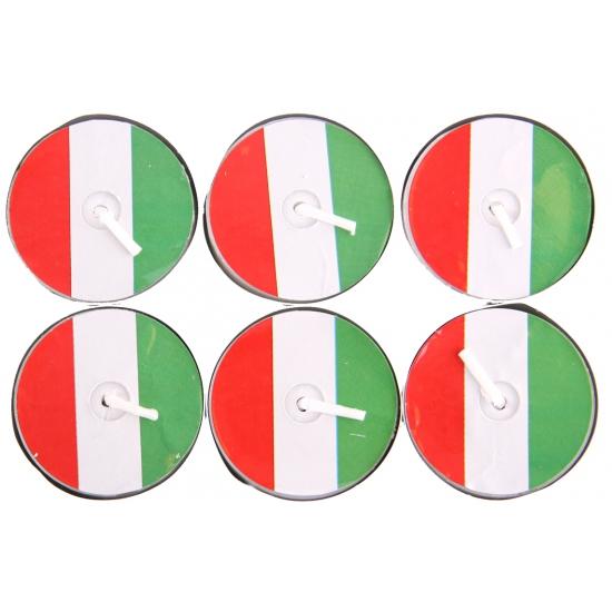 AlleKleurenShirts Waxinelichtjes rood wit groen 6 stuks Landen versiering en vlaggen