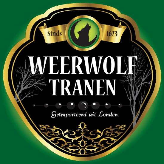 Halloween feestartikelen Shoppartners Weerwolf tranen flessen etiket
