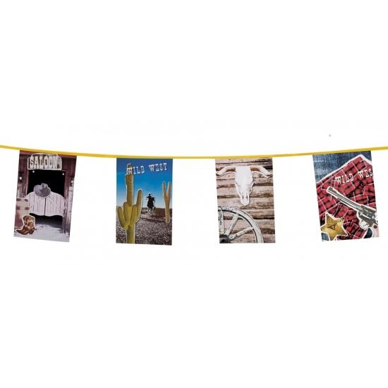 Thema feestartikelen AlleKleurenShirts Western vlaggenlijn 10 meter