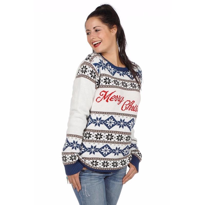 Witte Kersttrui.Witte Foute Kersttrui Merry Christmas Alle Kleuren Shirts Winkel