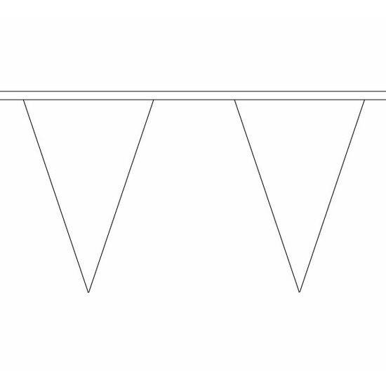 Witte slinger met puntvlaggetjes 5 meter AlleKleurenShirts beste prijs