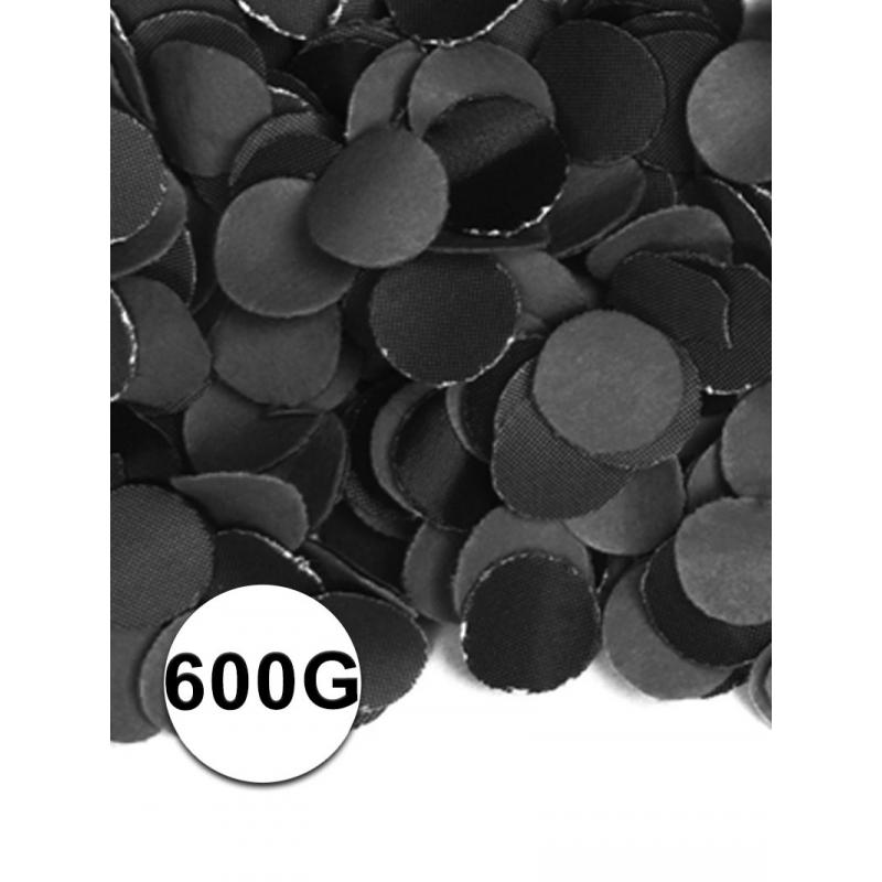 Zakje met 600 gram zwarte confetti Geen Kleuren versiering