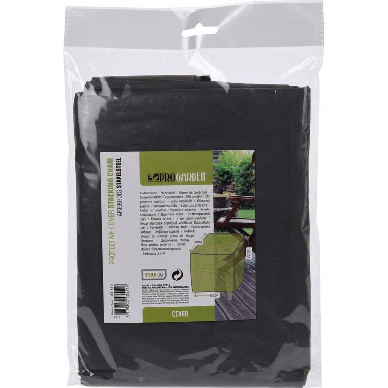 Zwarte beschermhoes voor tuinstoelen 63x105 cm