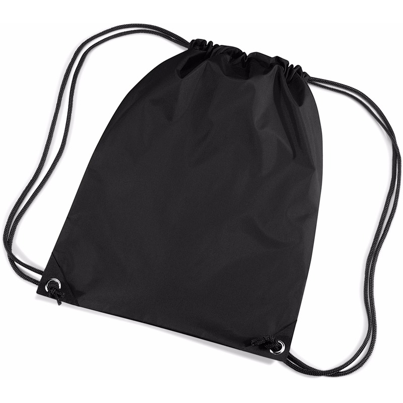 Tassen Zwarte gymtas met koordsluiting