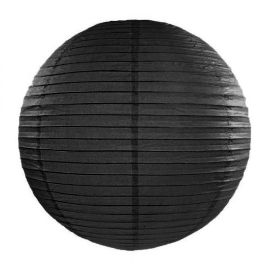 Zwarte lampion rond 35 cm AlleKleurenShirts Hoge kwaliteit