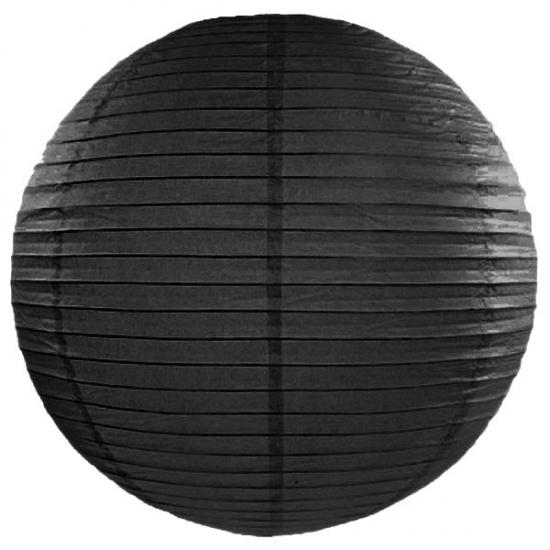 Zwarte lampion rond 50 cm AlleKleurenShirts Feestartikelen diversen