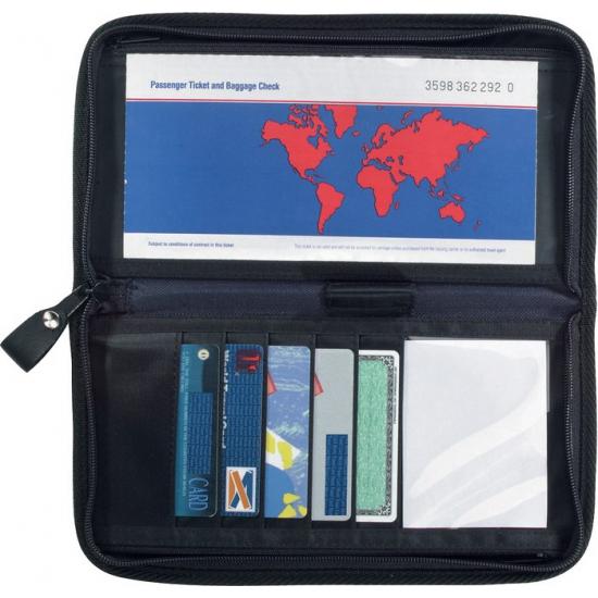 Zwarte paspoorthouder AlleKleurenShirts Outdoor Vakantie