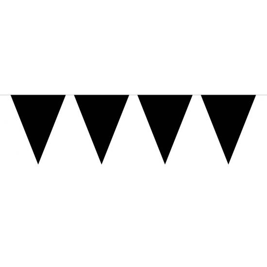 Kleuren versiering Geen Zwarte vlaggenlijn groot 10 meter
