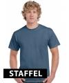 Indigo blauwe t-shirts