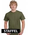 Kleding t-shirt leger groen