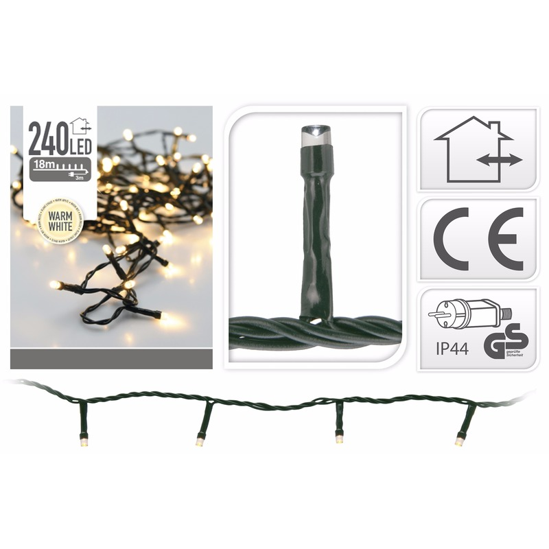 LED kerstverlichting warm wit 240 lampjes