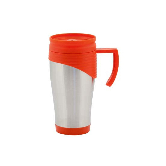 RVS Thermo beker rood 400 ml